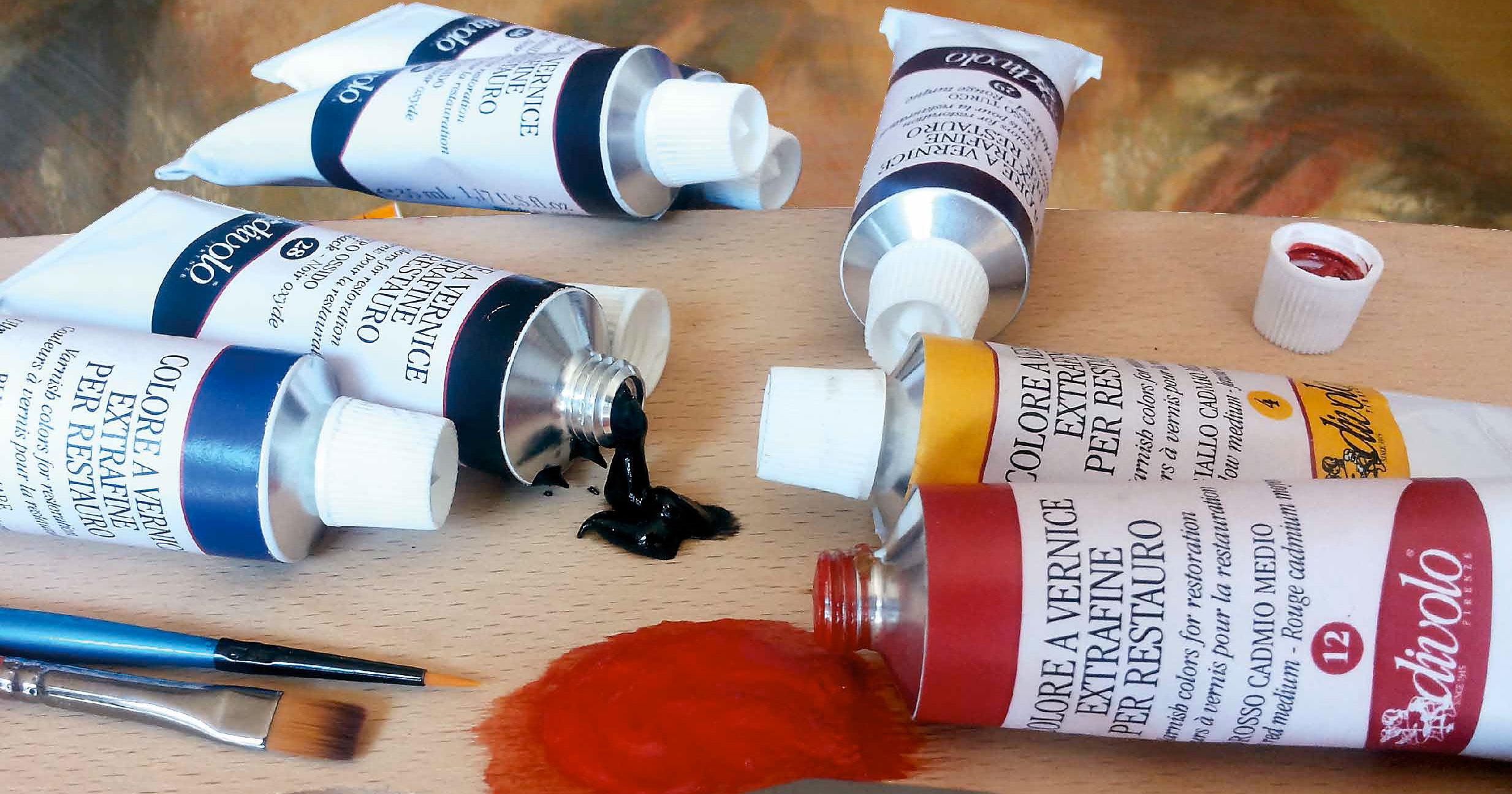 Colore a vernice per restauro