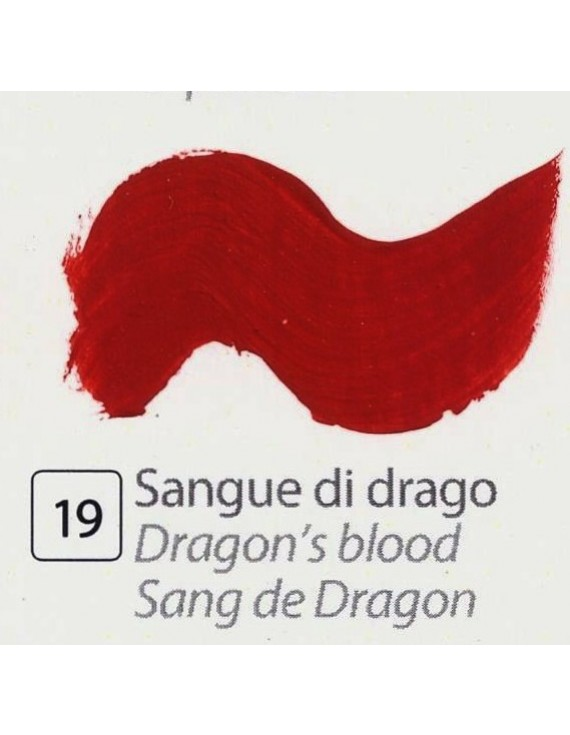 TEMPERA ALL'UOVO  35 ml. SANGUE DI DRAGO