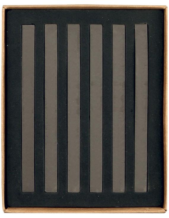 20010 PASTELLI SOFT mm 7x7x92 scatola in cartone da 6 pz. Ombra Bruciata