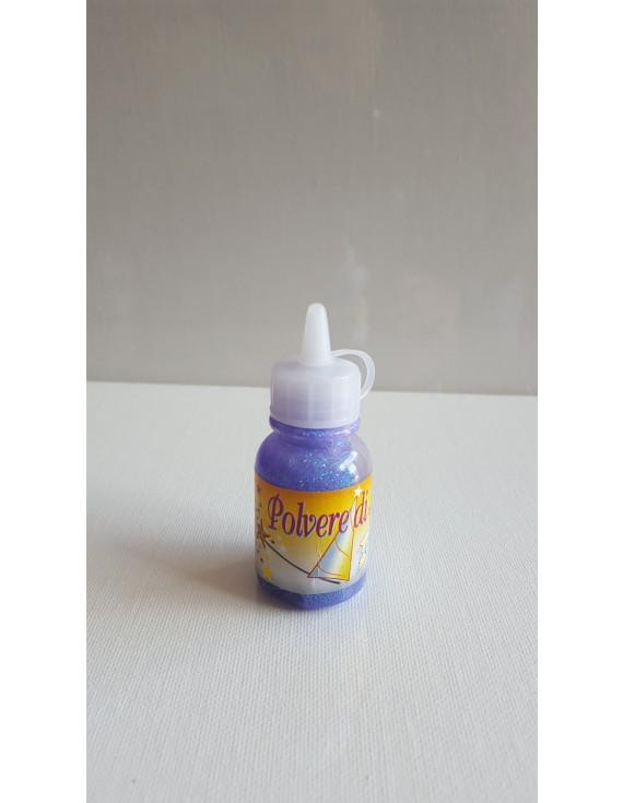 POLVERE DI FATA GLITTER GLUE IRIDESCENTI VIOLA 30 ML.
