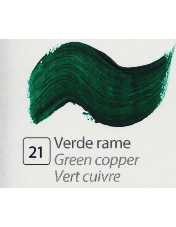 TEMPERA ALL'UOVO  35 ml. VERDE RAME