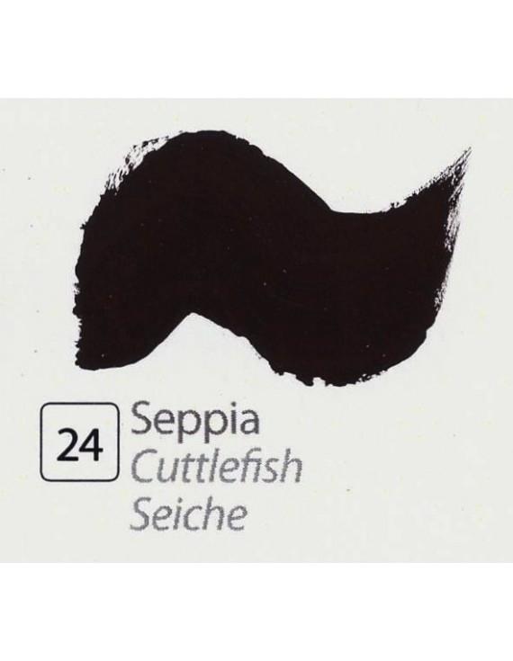 TEMPERA ALL'UOVO  35 ml. SEPPIA