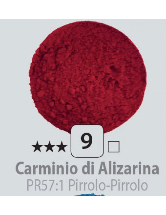 PIGMENTI IN POLVERE 125 ML N.9 CARMINIO DI ALIZARINA
