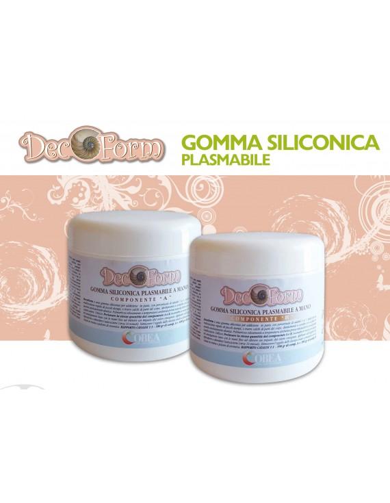 Decoform- Gomma siliconica 1:1 plasmabile gr.500 comp.A+ gr. 500 comp. B