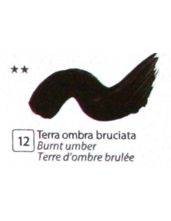 COLORE ACRILICO BETACOLOR N.12 TERRA OMBRA BRUCIATA