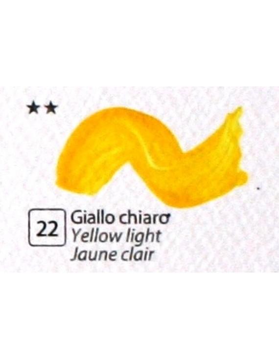 COLORE ACRILICO BETACOLOR N.22 GIALLO CHIARO