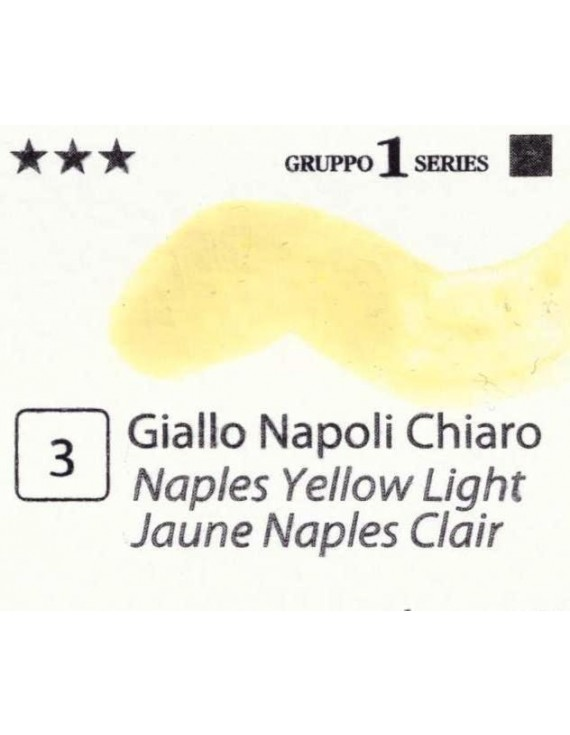 Acquerelli Porto Azzurro ml.20 n.3 Giallo Napoli Chiaro