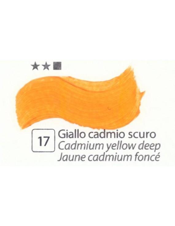 COLORI AD OLIO Serie Accademia N.17 GIALLO CADMIO SCURO