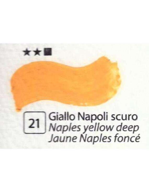 COLORI AD OLIO Serie Accademia N.21 GIALLO NAPOLI SCURO