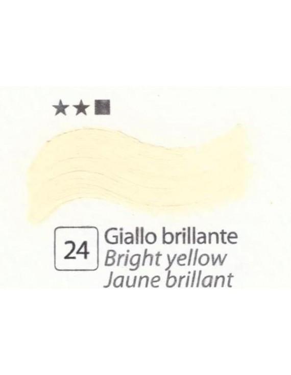 COLORE A OLIO  ACCADEMIA N.24 GIALLO BRILLANTE