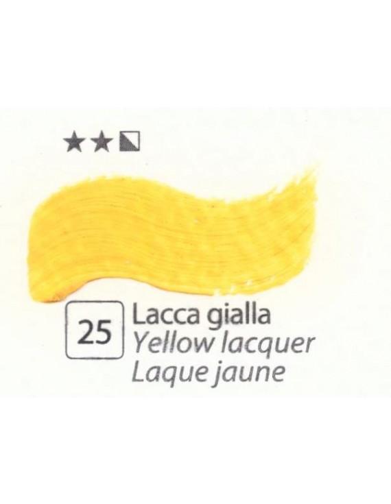 COLORI AD OLIO Serie Accademia N.25 LACCA GIALLA
