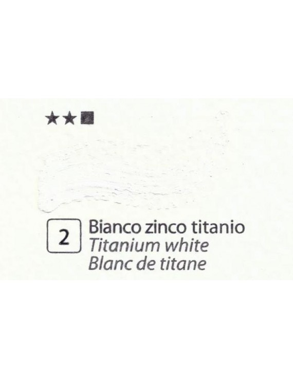 COLORI A OLIO SERIE ACCADEMIA, N.2 BIANCO TITANIO