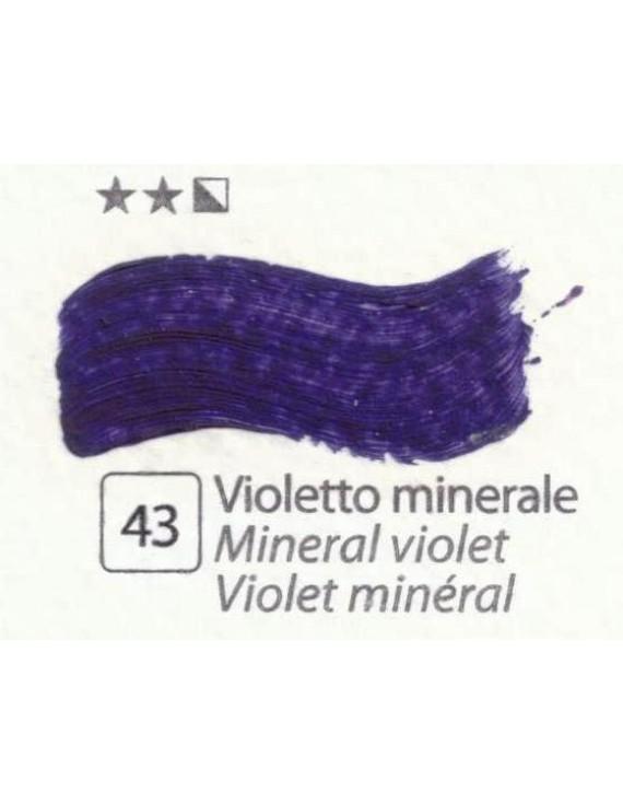 COLORI AD OLIO Serie Accademia N.43  VIOLETTO MINERALE