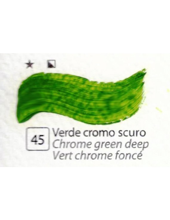 COLORI AD OLIO Serie Accademia N.45 VERDE CROMO SCURO