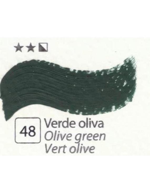 COLORI AD OLIO Serie Accademia N.48 VERDE OLIVA