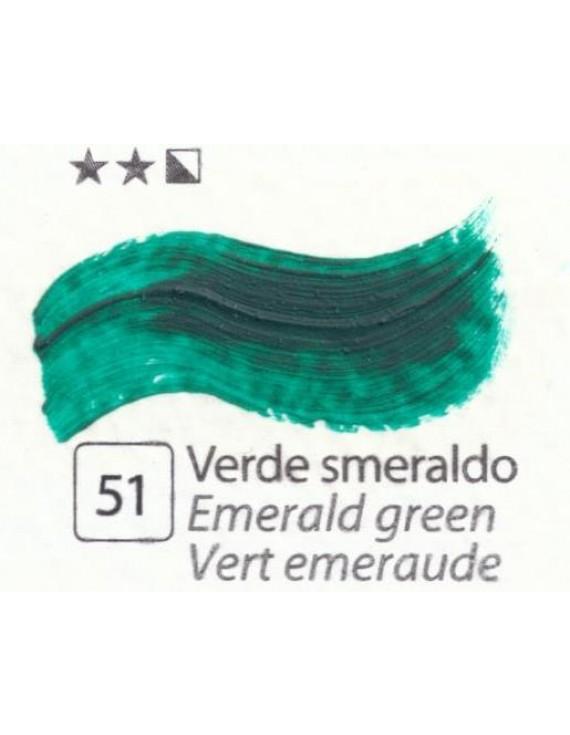 COLORI AD OLIO Serie Accademia Colore VERDE SMERALDO 420 ml