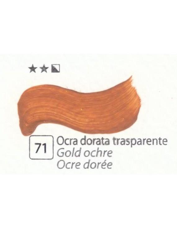 COLORE A OLIO Serie Accademia N. 71 OCRA DORATA TRASPARENTE