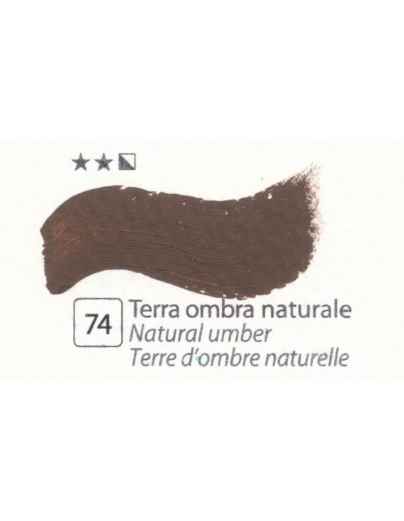 COLORE A OLIO Serie Accademia   N.74 TERRA OMBRA NATURALE