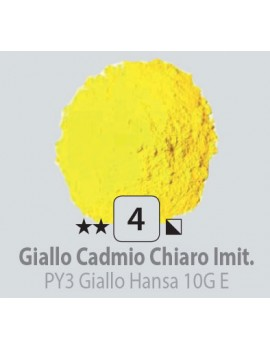 PIGMENTI IN POLVERE 125 ML N.4 GIALLO CADMIO CHIARO IMITAZIONE