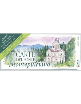 CARTE DEL PONTE MONTEPULCIANO, CARTA  PER ACQUERELLO CM 24X11