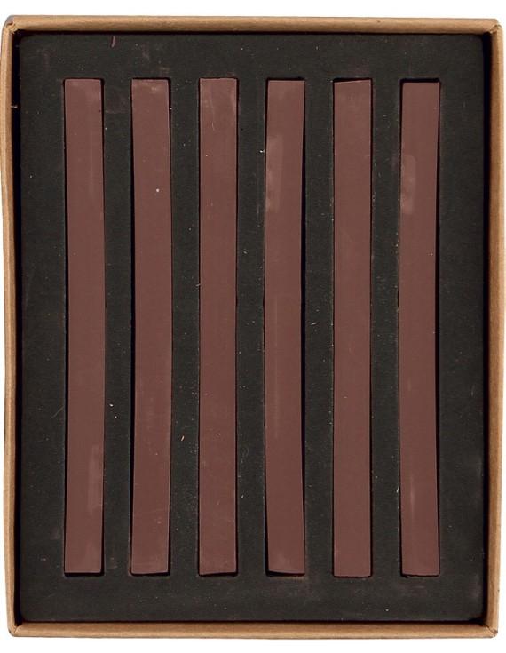 20007 PASTELLI SOFT mm 7x7x92 scatola in cartone da 6 pz. Seppia