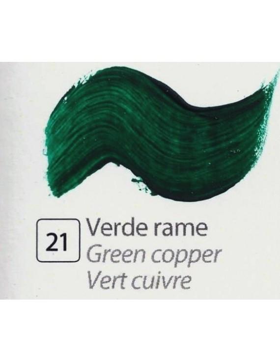 TEMPERA ALL'UOVO  35 ml. VERDE RAME