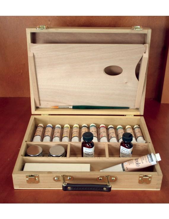cassetta completa in legno - olio accademia