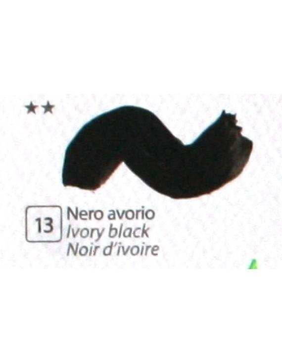 COLORE ACRILICO BETACOLOR  N.13 NERO AVORIO