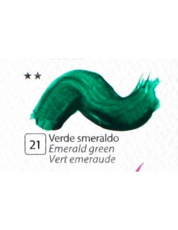 COLORE ACRILICO BETACOLOR   N.21 VERDE SMERALDO