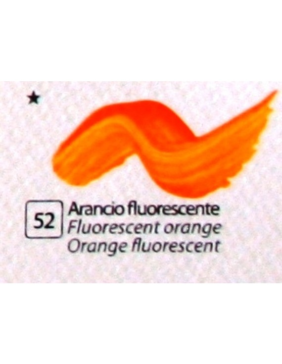 COLORE ACRILICO BETACOLOR ml.125 ARANCIO FLUORESCENTE