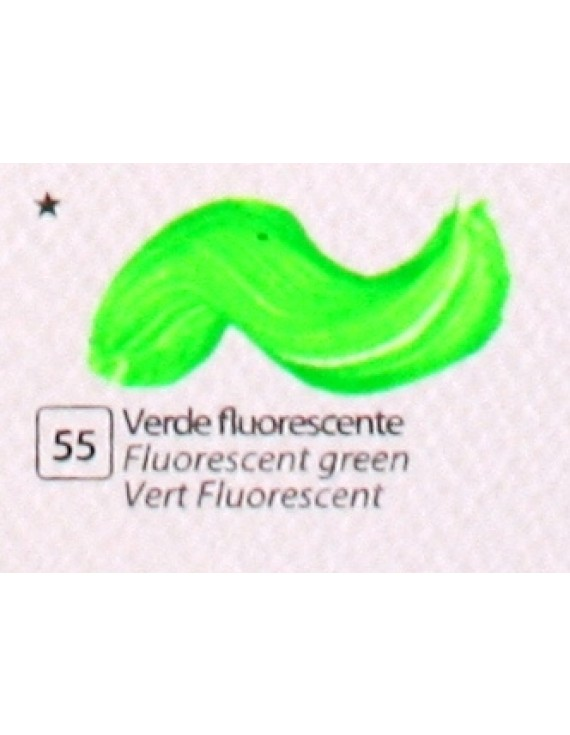 COLORE ACRILICO BETACOLOR ml.125 VERDE FLUORESCENTE