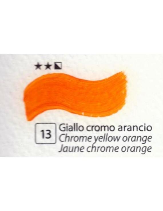 COLORE A OLIO SERIE ACCADEMIA N.13 GIALLO CROMO ARANCIO