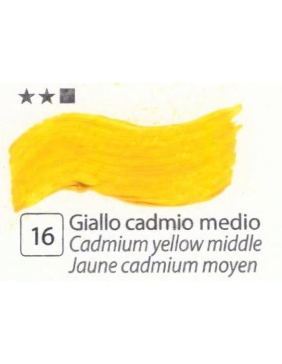 COLORI AD OLIO Serie Accademia N.16  GIALLO CADMIO MEDIO