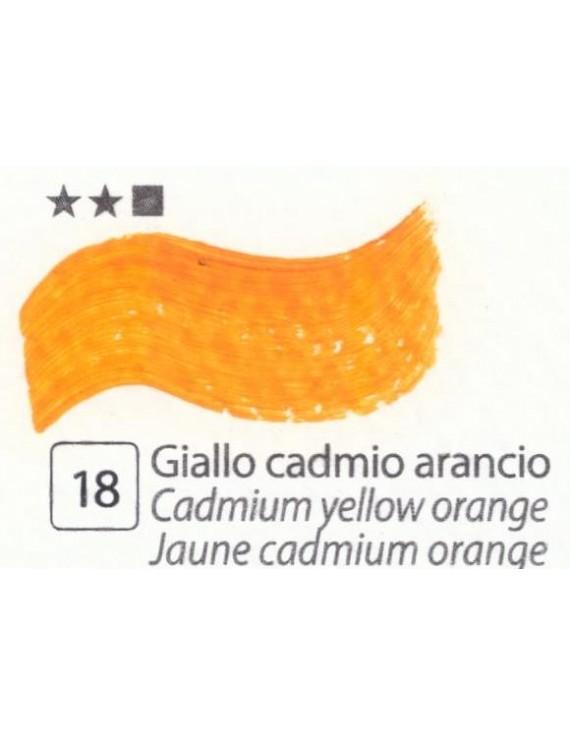COLORI AD OLIO Serie Accademia N.18 GIALLO CADMIO ARANCIO