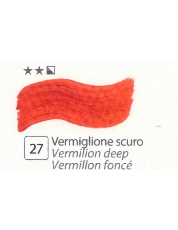 COLORI AD OLIO Serie Accademia N.27 VERMIGLIONE SCURO