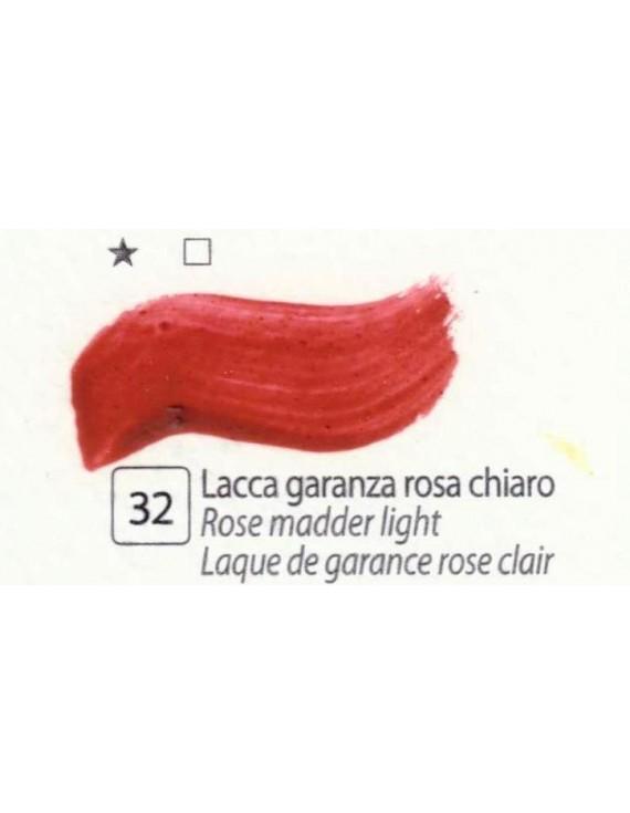 COLORI AD OLIO Serie Accademia N.32 LACCA GARANZA ROSA CHIARO