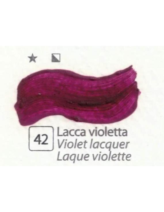 COLORI AD OLIO Serie Accademia N.42 LACCA VIOLETTA