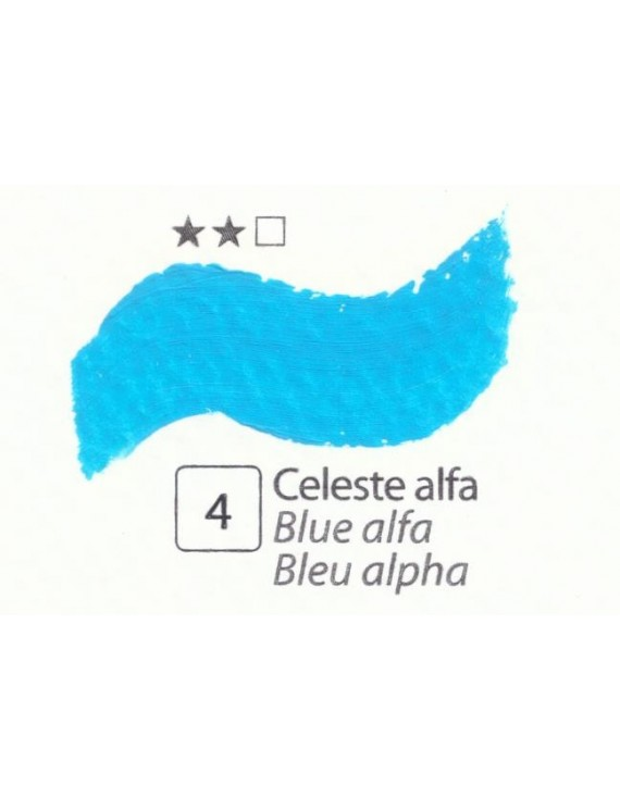 COLORE A OLIO SERIE ACCADEMIA,N.4 CELESTE ALFA