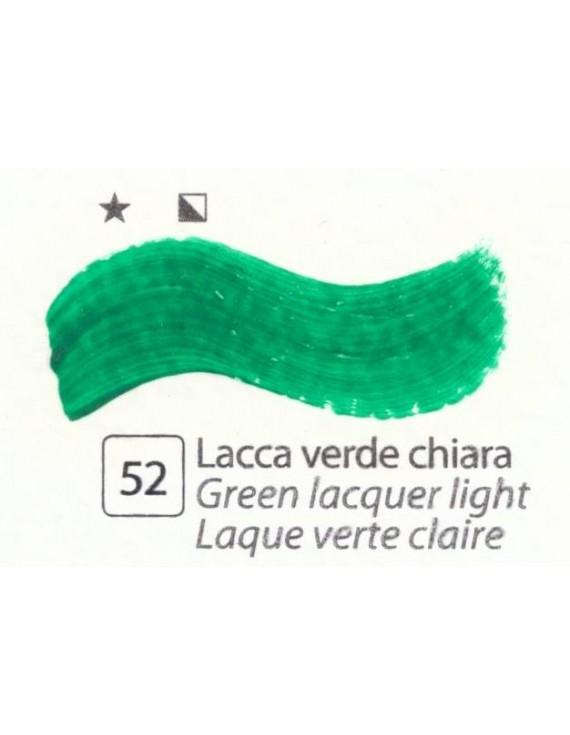 COLORI AD OLIO Serie Accademia N.52 LACCA VERDE CHIARA