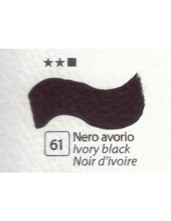 COLORI AD OLIO Serie Accademia N.61 NERO AVORIO