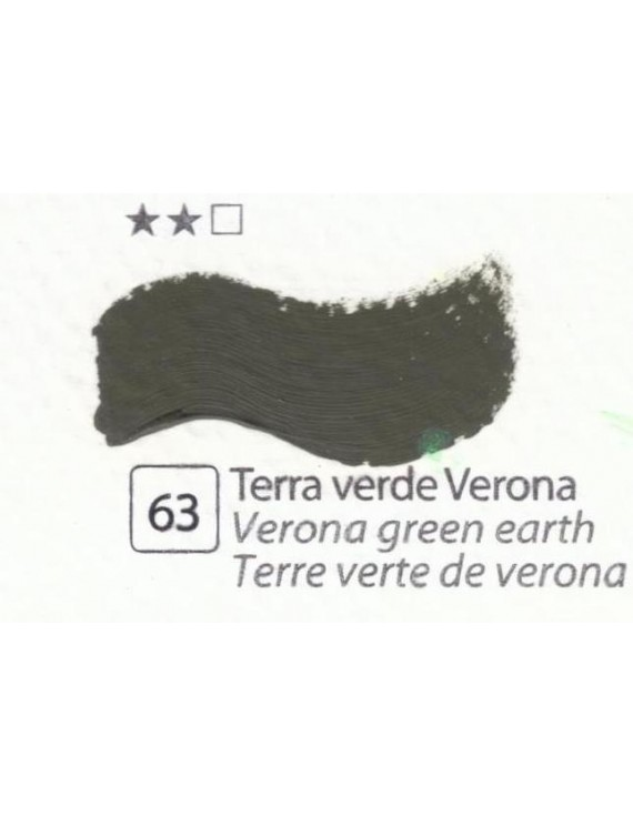 COLORI AD OLIO Serie Accademia N.63 TERRA VERDE DI VERONA
