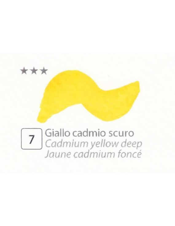 ACQUERELLI  IN GODET 1,5 ML  N.7 GIALLO CADMIO SCURO