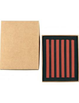 20006 PASTELLI SOFT mm 7x7x92 scatola in cartone da 6 pz. Rosso Venezia