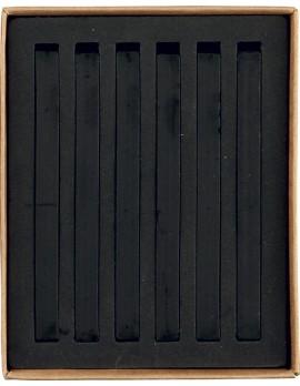 20009 PASTELLI SOFT mm 7x7x92 scatola in cartone da 6 pz. Nero