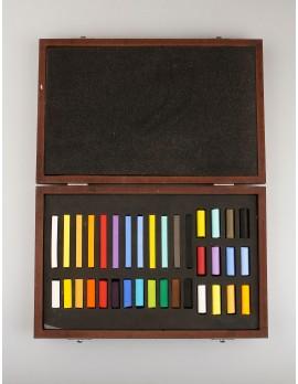 cod. 40050 cassetta in legno da 36 pastelli soft