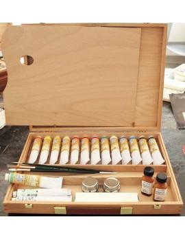 CASSETTA DI LEGNO COMPLETA CM 30 X 40 - BETACRIL60 ml